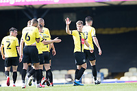 Lloyd Kerry, Harrogate Town,  acknowledges his team mates following his goal which doubled the lead during Southend United vs Harrogate Town, Sky Bet EFL League 2 Football at Roots Hall on 12th September 2020