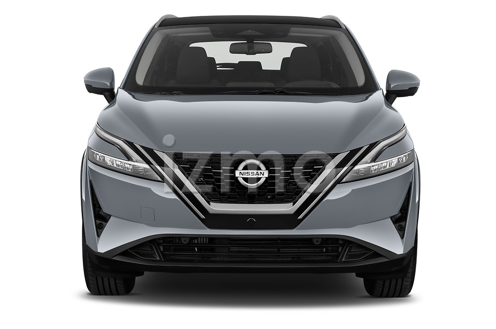 Car photography straight front view of a 2022 Nissan Qashqai N-Connecta 5 Door SUV Front View