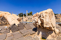 Israel, Galilee, Kiryat Tiv'on, Bet She'an national park,Ruins of Decapolis city of Scythopolis