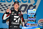 NASCAR Camping World Truck Series<br /> North Carolina Education Lottery 200<br /> Charlotte Motor Speedway, Concord, NC USA<br /> Friday 19 May 2017<br /> Kyle Busch, Cessna Toyota Tundra celebrates his win in Victory Lane<br /> World Copyright: Nigel Kinrade<br /> LAT Images<br /> <br /> ref: Digital Image _DSC7389