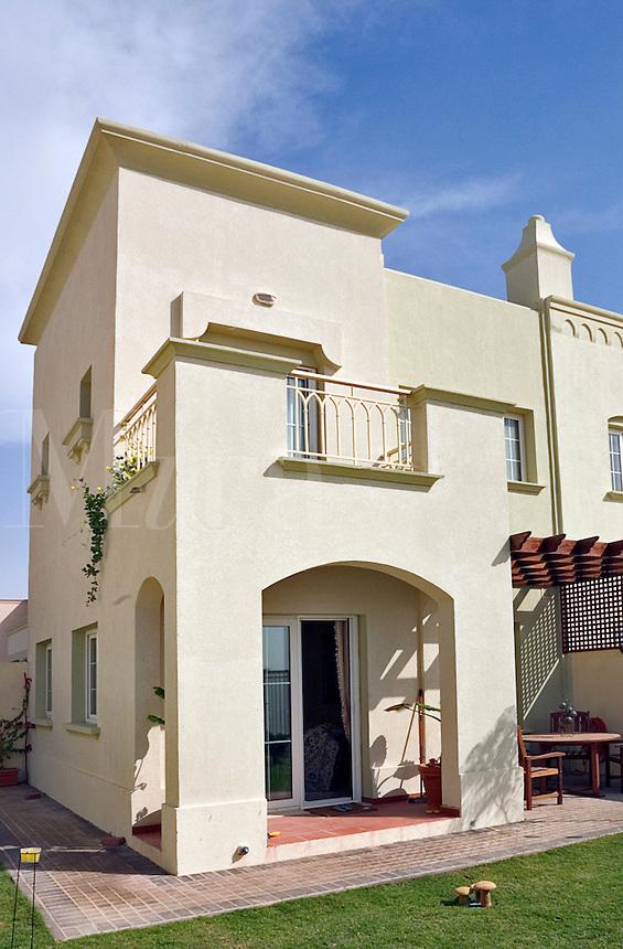 End of terrace villa in modern development. Dubai, United Arab Emirates..
