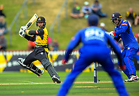 Devon Conway bats during the Dream11 Super Smash women's cricket match between the Wellington Blaze and Auckland Hearts at Basin Reserve in Wellington, New Zealand on Sunday, 12 January 2020. Photo: Dave Lintott / lintottphoto.co.nz