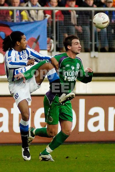 heerenveen - fc groningen eredivisie seizoen 2007-2008 09-12- 2007 jong a pin met lovre.fotograaf Jan Kanning *** Local Caption ***