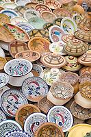 Garyan, Jebal Nefusa, Libya - Pottery Market, Ceramics, Dishes, Bowls