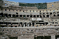 Interior view of the Colosseum, Rome, Italy, 80 AD