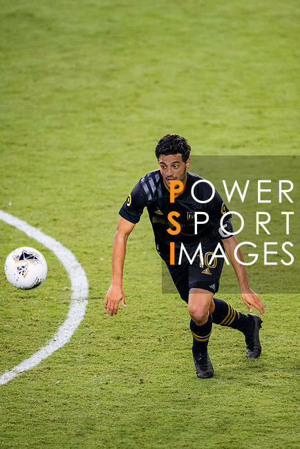 Carlos Vela of Los Angeles FC (USA) fights for the ball against Club America (MEX) during their CONCACAF Champions League Semi Finals match at the Orlando's Exploria Stadium on 19 December 2020, in Florida, USA. Photo by Victor Fraile / Power Sport Images