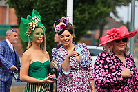9th September 2021; Doncaster Racecourse, Doncaster, South Yorkshire, England;   St Leger Ladies Day; Ladys arrive and queue up to get into the event at Doncaster Racecourse