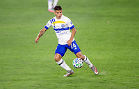 LOS ANGELES, CA - SEPTEMBER 02: Adrien Perez #26 of LAFC gets after a loose ball during a game between San Jose Earthquakes and Los Angeles FC at Banc of California stadium on September 02, 2020 in Los Angeles, California.