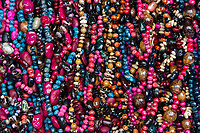 Tlacolula; Oaxaca; Mexico; North America. Necklaces of Beads and Seeds.