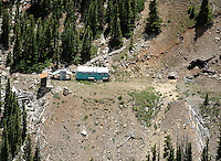 small mine on Monarch Pass with trailor