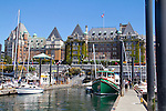 Victoria, Fairmont Empress Hotel, Inner Harbor, British Columbia, Vancouver Island, Canada, one time Canadian Pacific Hotel, known as the Empress Hotel