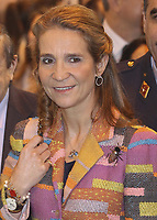 MADRID, SPAIN - FEBRUARY 19: Princess Elena of Spain attends the 'International Fair of Students' 2014 at Ifema on February 19, 2014 in Madrid, Spain<br /> <br /> People:  Princess Elena of Spain