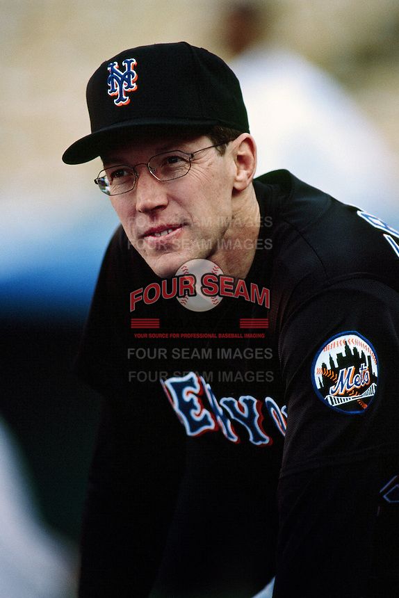 Orel Hershiser of the New York Mets during a game against the Los Angeles Dodgers at Dodger Stadium circa 1999 in Los Angeles, California. (Larry Goren/Four Seam Images)