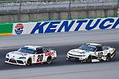 #20: Harrison Burton, Joe Gibbs Racing, Toyota Supra Dex Imaging, #10: Ross Chastain, Kaulig Racing, Chevrolet Camaro Chevy Accessories