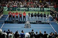 French Davis Cup player during his match against Viktor Troicki of Serbia, Davis Cup finals, Serbia vs France in Belgrade Arena in Belgrade, Serbia, Sunday, 5. December 2010. (Srdjan Stevanovic/Starsportphoto ©)