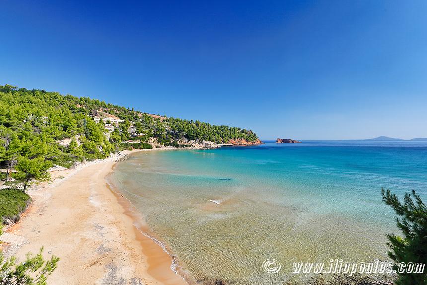 The beach Chrisi Milia of Alonissos island, Greece