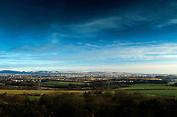 Glasgow and the Campsie Fells from Brownside Braes, Gleniffer Braes Country Park, Barrhead, East Renfrewshire