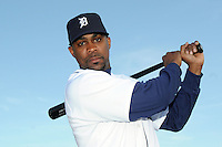 Feb 21, 2009; Lakeland, FL, USA; The Detroit Tigers outfielder Marcus Thames (33) during photoday at Tigertown. Mandatory Credit: Tomasso De Rosa/ Four Seam Images