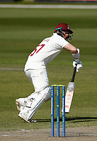 16th April 2021; Emirates Old Trafford, Manchester, Lancashire, England; English County Cricket, Lancashire versus Northants; Ben Curran of Northamptonshire at bat