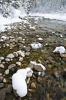 January along the Maligne River