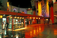 Hollywood, California, CA, Los Angeles, Mann's Chinese Theatre illuminated at night in Hollywood.