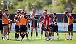 Mark Warburton and his players in the South Carolina heat