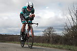 Bryan Coquard (FRA) B&B Hotels-Vital Concept P/B KTM in action during Stage 4 of the 78th edition of Paris-Nice 2020, and individual time trial running 15.1km around Saint-Amand-Montrond, France. 11th March 2020.<br /> Picture: ASO/Fabien Boukla | Cyclefile<br /> All photos usage must carry mandatory copyright credit (© Cyclefile | ASO/Fabien Boukla)