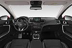 Stock photo of straight dashboard view of 2019 KIA Ceed Fusion Door Hatchback Dashboard