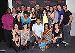 Joseph Siravo, Bryan Fenkart, Teal Weeks, Zak Resnick, Linda Hart, Derrick Baskin, D'adre Aziza and Leslie Kritzer with the ensemble cast attend the 'Piece of my Heart: The Bert Berns Story'  Meet & Greet at the rehearsal studios at The Pershing Square Signature Center on June 11, 2014 in New York City.