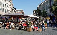Nederland  Nijmegen  - September 2020 .  Horeca op de Grote Markt.    Foto : ANP/ Hollandse Hoogte / Berlinda van Dam