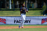 Shortstop Kahlil Watson (6) during the Baseball Factory All-Star Classic at Dr. Pepper Ballpark on October 4, 2020 in Frisco, Texas.  Kahlil Watson (6), a resident of Wake Forest, North Carolina, attends Wake Forest High School.  (Mike Augustin/Four Seam Images)