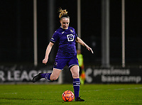Michelle Colson (2) of Anderlecht pictured during a female soccer game between RSC Anderlecht Dames and Sporting Charleroi on the 13 th matchday of the 2020 - 2021 season of Belgian Womens Super League , friday 5 th of February 2021  in Tubize , Belgium . PHOTO SPORTPIX.BE | SPP | DAVID CATRY