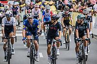 super domestics Tim Declercq (BEL/Deceuninck-Quick Step) and Michal Kwiatkowski (POL/Ineos Grenadiers)<br /> <br /> Stage 4 from Redon to Fougéres (150.4km)<br /> 108th Tour de France 2021 (2.UWT)<br /> <br /> ©kramon