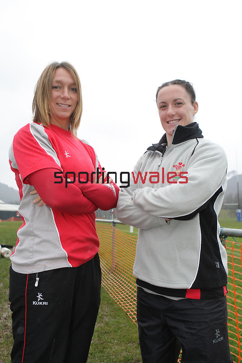 Clare Flowers and Melissa Berry..Taffs Well Rugby Club..15.03.08.©Steve Pope.Sportingwales.The Manor .Coldra Woods.Newport.South Wales.NP18 1HQ.07798 830089.01633 410450.steve@sportingwales.com.www.fotowales.com.www.sportingwales.com