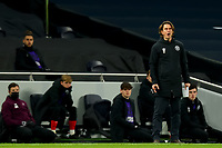 5th January 2021; Tottenham Hotspur Stadium, London, England; English Football League Cup Football, Carabao Cup, Tottenham Hotspur versus Brentford; Brentford Manager Thomas Frank looks on nervously as his team lag behind in the game