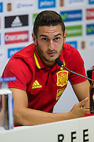 Spanish Koke Resurrecccion during the press conference of the concentration of Spanish football team at Ciudad del Futbol de Las Rozas before the qualifying for the Russia world cup in 2017 August 30, 2016. (ALTERPHOTOS/Rodrigo Jimenez) /NORTEPHOTO