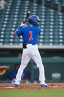 AZL Cubs 1 Ezequiel Pagan (1) at bat during an Arizona League game against the AZL D-backs on July 25, 2019 at Sloan Park in Mesa, Arizona. The AZL D-backs defeated the AZL Cubs 1 3-2. (Zachary Lucy/Four Seam Images)