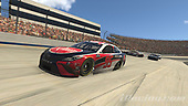 #95: Christopher Bell, Leavine Family Racing, Toyota Camry, #11: Denny Hamlin, Joe Gibbs Racing, Toyota Camry<br /> <br /> (MEDIA: EDITORIAL USE ONLY) (This image is from the iRacing computer game)