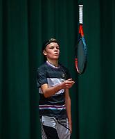 Wateringen, The Netherlands, December 4,  2019, De Rhijenhof , NOJK 14 and18 years, Abel Forger (NED)<br /> Photo: www.tennisimages.com/Henk Koster