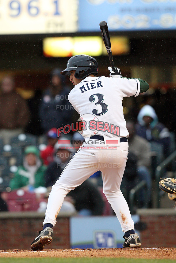 April 20, 2010: Jiovanni Mier (3 ) of the Lexington Legends at Applebee's Park in Lexington, KY. The Legends are the Class A affiliate of the Houston Astros. Photo by: Chris Proctor/Four Seam Images