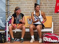 August 9, 2014, Netherlands, Rotterdam, TV Victoria, Tennis, National Junior Championships, NJK,  Final girls 18 years doubles: Tessa van de Ploeg (R) and Claire Verwerda (NED)<br /> Photo: Tennisimages/Henk Koster