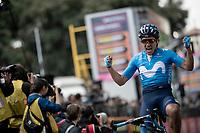 Richard Carapaz (ECU/Movistar) wins stage 4 from Orbetello to Frascati (228km)<br /> <br /> 102nd Giro d'Italia 2019<br /> <br /> ©kramon