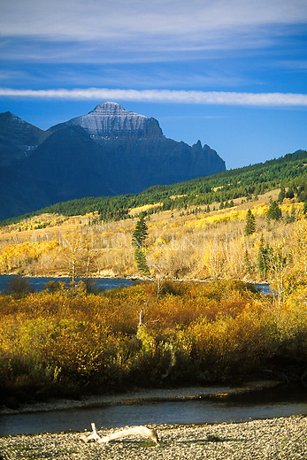 The east front of the Rocky Mountains in Glacier National Park