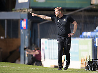 Simon Weaver, Manager, Harrogate Town,  gets his point across during Southend United vs Harrogate Town, Sky Bet EFL League 2 Football at Roots Hall on 12th September 2020