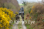 The Irish Defence Forces on manoeuvres in Tralee on Monday