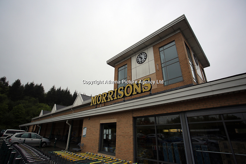 Exterior view of the Morrisons super market in Rogerstone near Newport, Wales, UK