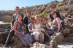 Kangaroo Island Wedding on the rocks at Pennington bay at low tide making for the most beautiful Wedding