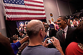 Greenwood, South Carolina.January 22, 2008 ..Presidential hopeful Sen. Barack Obama (D-IL) greets supports after a campaign rally at Lander University. Obama is campaigning through the state ahead of its Democratic primary on January 26..