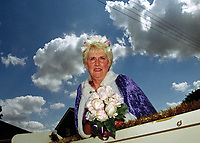 """Queen of Sutton on Sea, Ann Moys.<br /> <br /> """"The crowd was also treated to a flypast by an impressive Hurricane from the Battle of Britain Memorial Flight."""""""