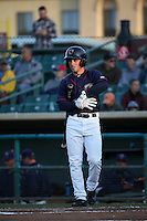 Bobby Boyd (3) of the Lancaster JetHawks prepares to bat during a game against the Visalia Rawhide at The Hanger on May 7, 2016 in Lancaster, California. Lancaster defeated Visalia, 19-5. (Larry Goren/Four Seam Images)